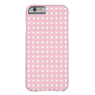 Pink pin polka dots dot girly cute pattern barely there iPhone 6 case