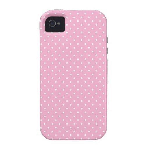 Pink pin polka dots dot pattern print iphone 4 4S Vibe iPhone 4 Covers