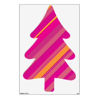 Pink Pine tree Fir tree Wall Graphic