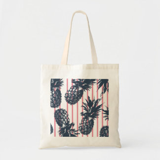 Pink Pineapple Beach Bag