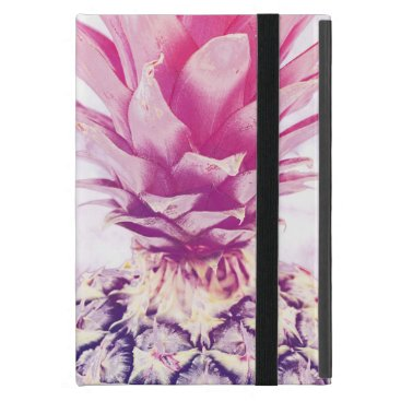 Pink pineapple on white marble case for iPad mini