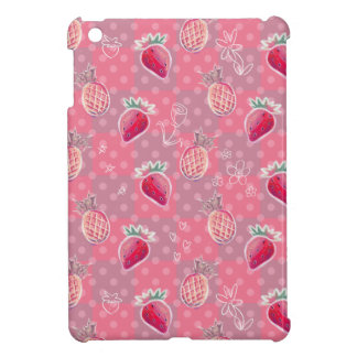 Pink Pineapple Strawberry Pattern iPad Mini Covers