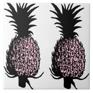 Pink Pineapples Tile