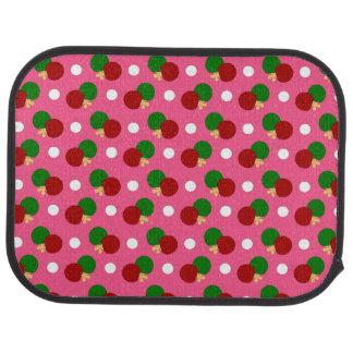 Pink ping pong pattern car floor mat