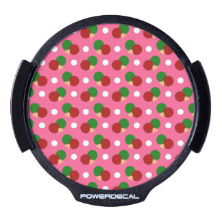 Pink ping pong pattern LED car window decal