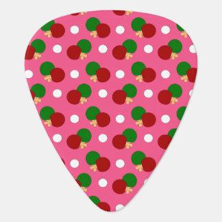 Pink ping pong pattern guitar pick