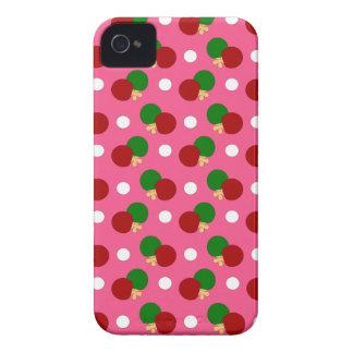 Pink ping pong pattern iPhone 4 case