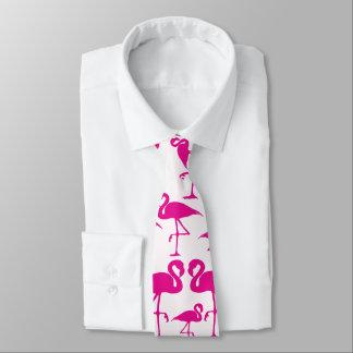 Pink pink Flamingos Neck Tie