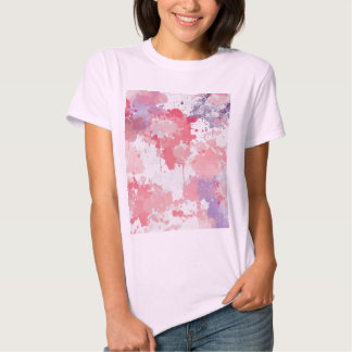 Pink-pink-purple color clouds tee shirt