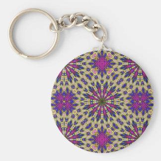Pink Pinwheel Keychain