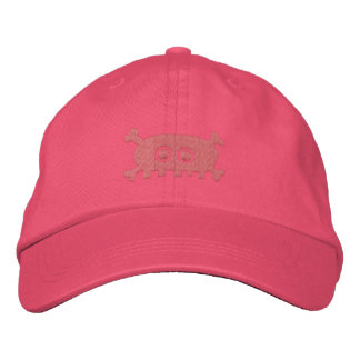 Pink Pirate Embroidered Baseball Hat