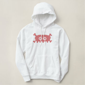 Pink Pirate Embroidered Hoodie