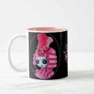 Pink Pirate Two-Tone Coffee Mug