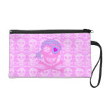 Pink Pirate Skull Accessory Bags