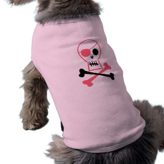 Pink Pirate Skull & Crossbones Doggie T-shirt