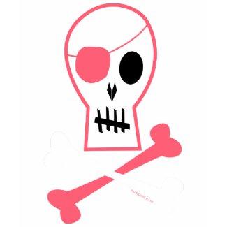 Pink Pirate Skull & Crossbones shirt