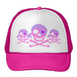 Pink Pirate Skull Hats