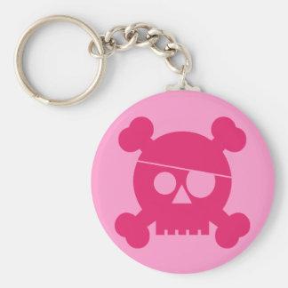 Pink Pirate Skull - Keychain