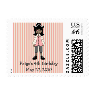 Pink Pirates · Pirate Girl 3 Stamps