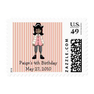 Pink Pirates · Pirate Girl #3 Stamps