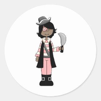 Pink Pirates · Pirate Girl #5 Stickers