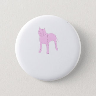 Pink Pit Bull Pinback Button