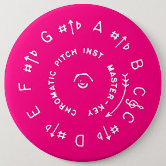 Pink Pitch Pipe Button