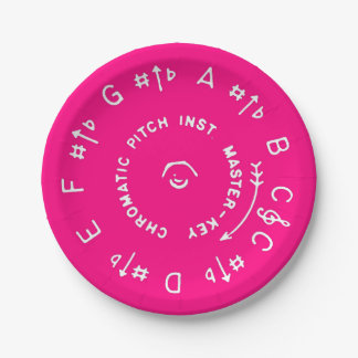 Pink Pitch Pipe Paper Plate