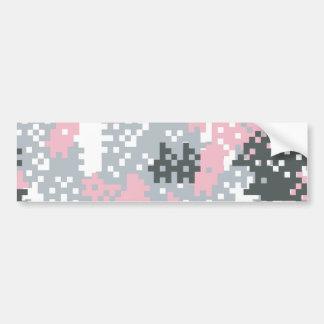 Pink Pixel Camouflage Bumper Sticker