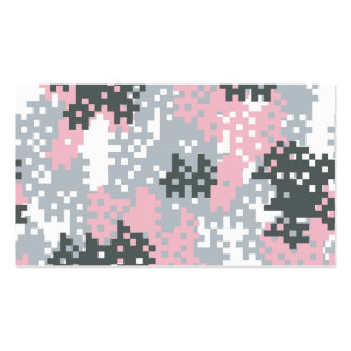 Pink Pixel Camouflage Business Card