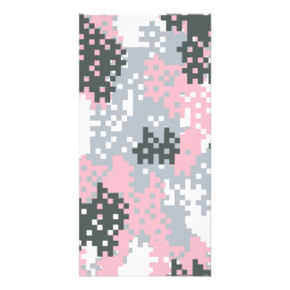 Pink Pixel Camouflage Card