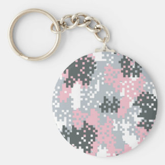 Pink Pixel Camouflage Keychain