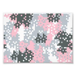 Pink Pixel Camouflage Photo Print