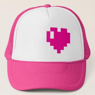 Pink Pixel heart cap