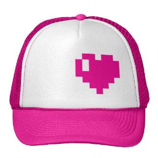 Pink Pixel heart cap Trucker Hat