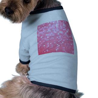 Pink Pixel Sparkle Pet Tee Shirt
