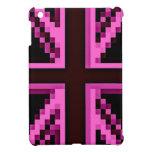 Pink Pixelated British Flag iPad case