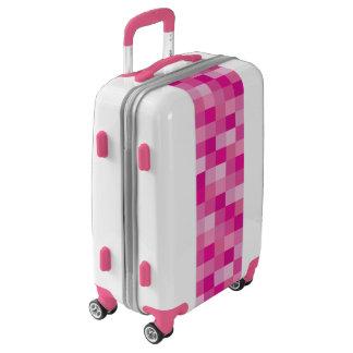 Pink Pixelated Pattern Luggage
