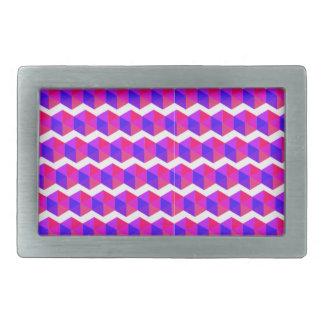 Pink Pixels Pattern Belt Buckle