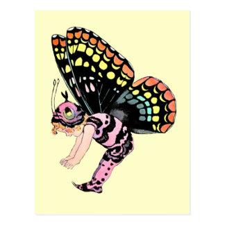 Pink Pixie Fairy Postcard