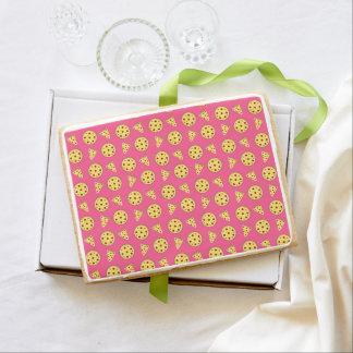 Pink pizza pattern jumbo cookie