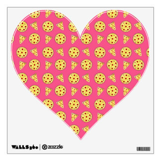 pink pizza pattern wall graphic