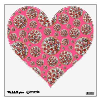 Pink pizza pie room sticker