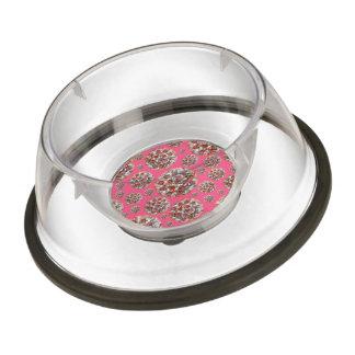 Pink pizza pie pet bowl