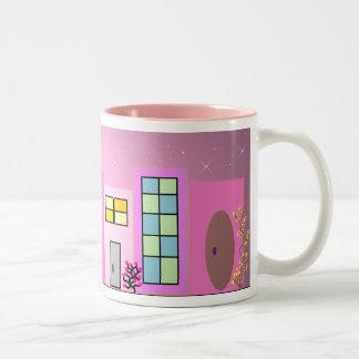 Pink  Place Two-Tone Coffee Mug