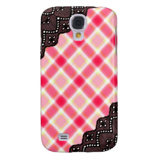Pink Plaid and Lace - Girly iPhone Cases