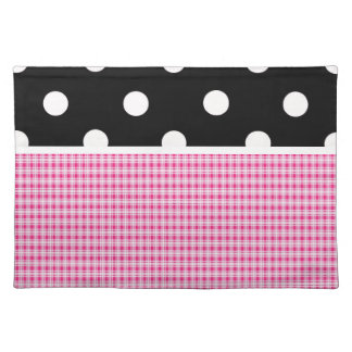 Pink Plaid and Polka Dots Placemat