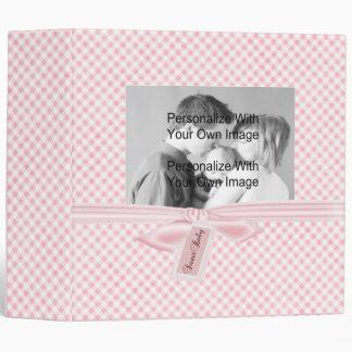 Pink Plaid Baby Album Binder