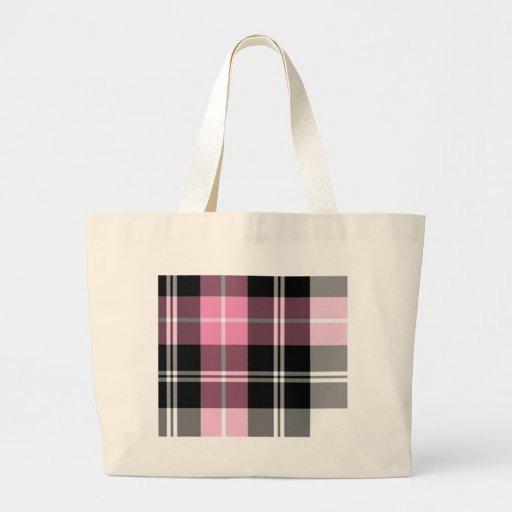 pink plaid bag
