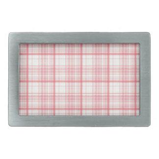 Pink Plaid Belt Buckle